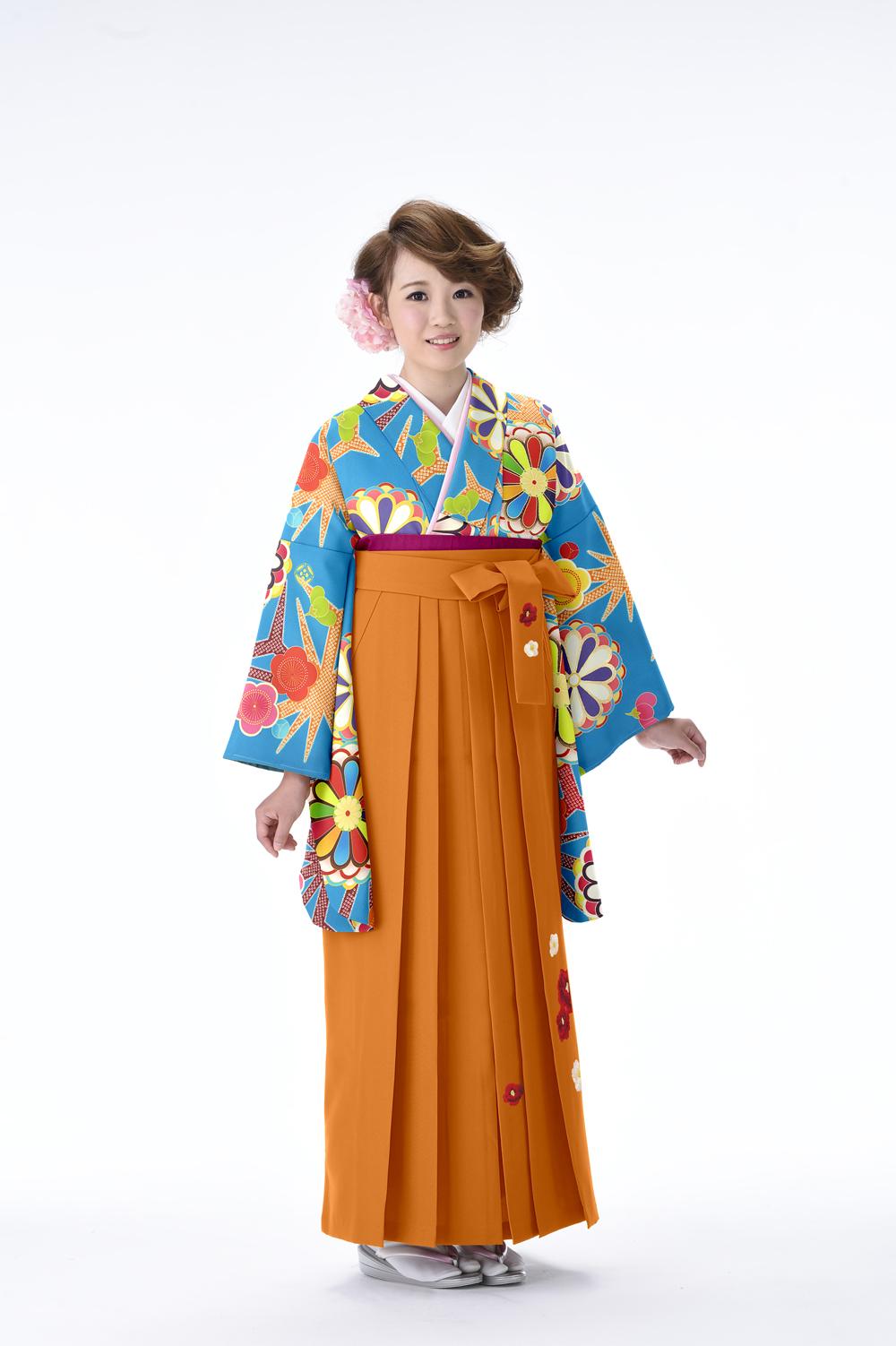 レトロ 菊麻の葉 エメブルー