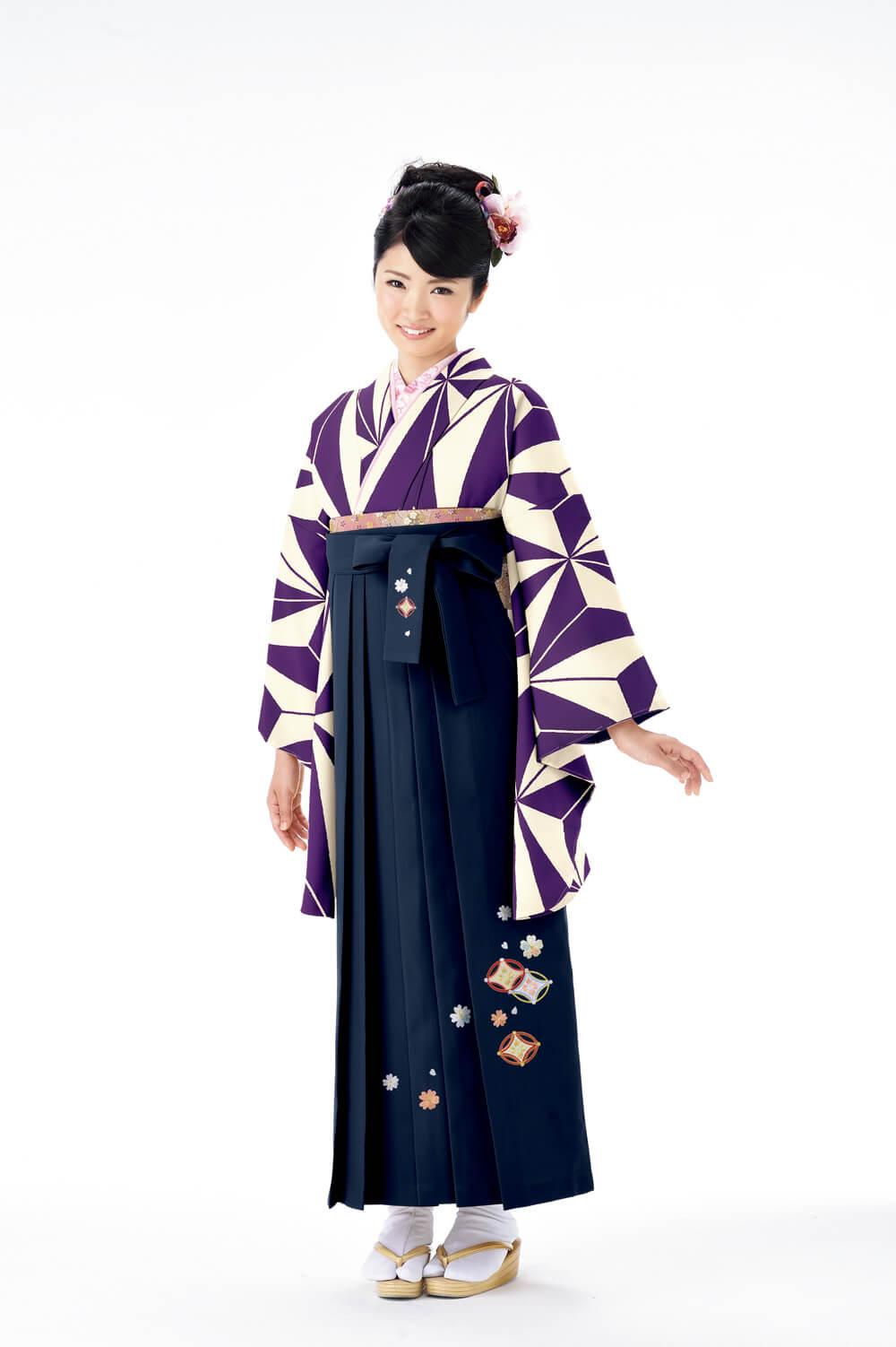 麻の葉2紫
